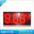 Outdoor waterproof 15''+8'' 8.88 9 red color led gas price sign