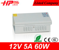 CE certification high quality led power supply 12v 5a switch power supply 220v ac to 12v dc transformer 60w psu