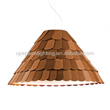 (XCP4632B) fancy light manufacturers in China modern Roofer F12A03 orange white black green roof cover acrylic Pendant Light