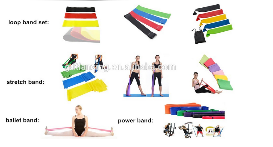 TXSport Yoga Pull Up Assistance Exercise Bodybuilding Fitness Ballet Stretch Resistance Bands Set