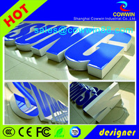 wall 3D waterproof resin light name sign, street name signs, rotating light sign