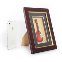 Decorative picture frame with mini electric guitar decorative photo frame and picture frame stand
