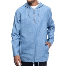 Mannen denim jacket blank apparel leverancier