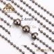 Custom Length Necklace 2.4mm Metal Nickel Plated Ball Chain Wholesale
