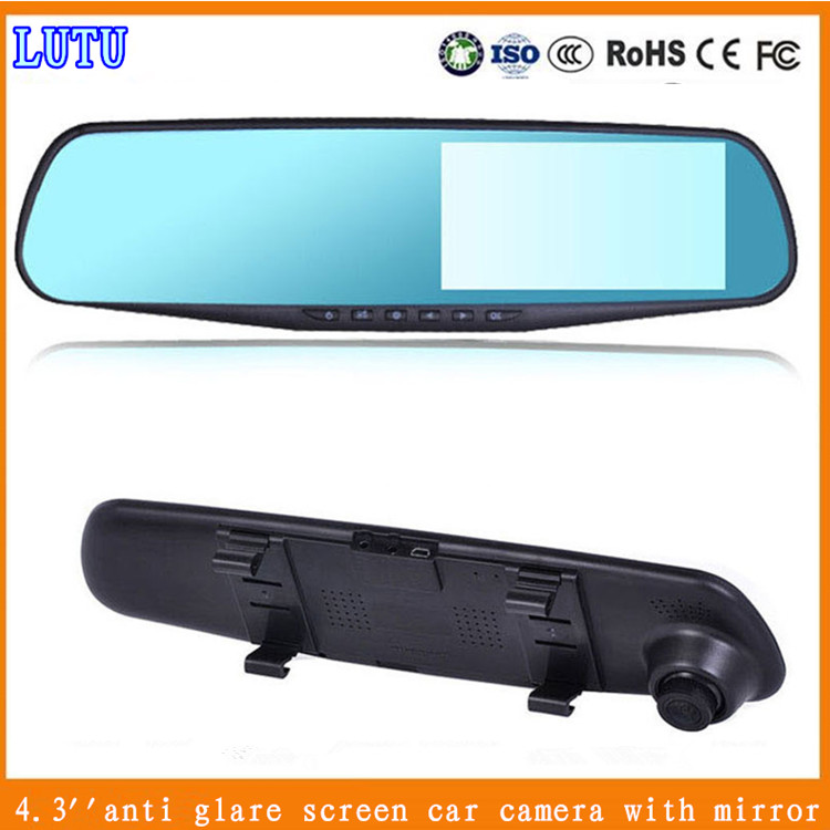 New 4.3 inch HD 1080P dual Camera dash cam Video Recorder Rearview Mirrors Monitor Car Camera Vehicle DVR