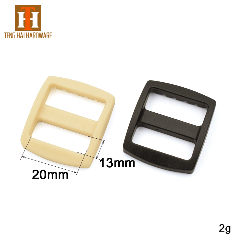Plastic Tri-glide Slider Adjustable Buckle for Bags Webbing