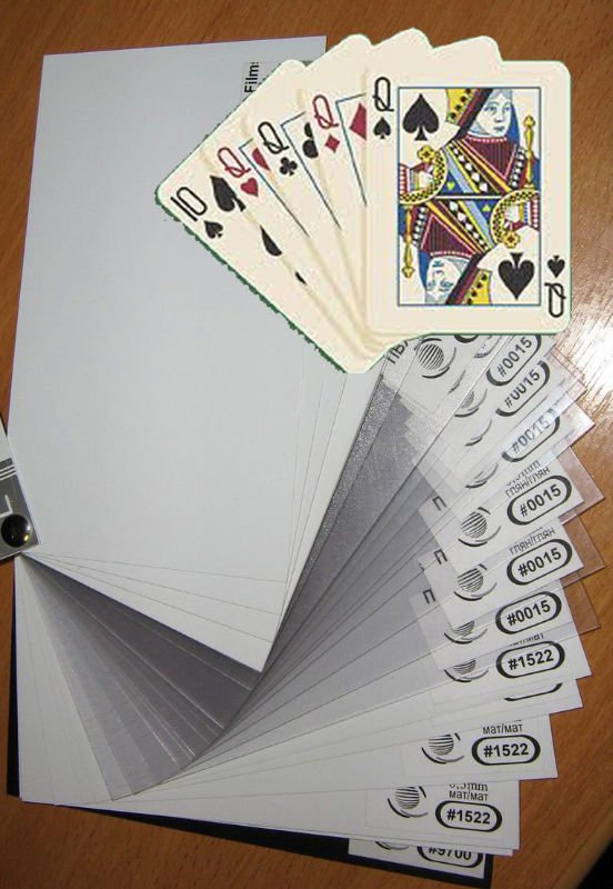 PVC sheet for making playing cards