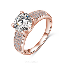 LZESHINE Fashion Europen Wedding Ring Designs 18KGP Copper Brass Jewelry Factory Wholesale Anies CRI0010-C