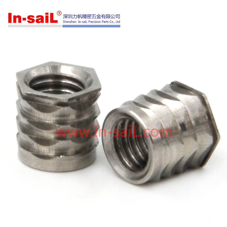 China fastener supplier In-saiL BL M8 stainless steel push in insert hex nuts manufacturer
