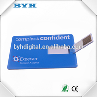 Business cooperation gift promotion paper cardit card usb flash drive webkey card