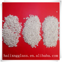 20-40mm China wholesale color glass sand for building materials-white