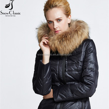 Wholesale fashion fur jacket women 100 polyester waterproof new style jacket