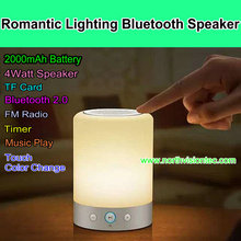 2000mAh battery romantic bluetooth speaker with touch color change function for birthday present
