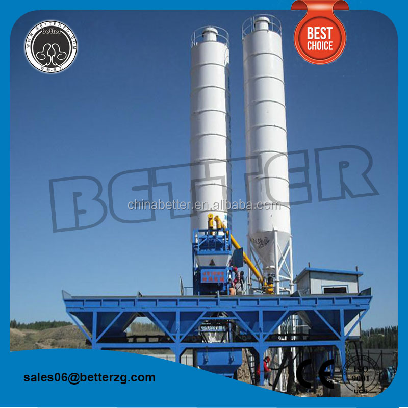 Better HZS50 used harga portable ready precast concrete batching plant for sale