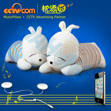 Europe Popular Gift Item in Alibaba! !Washable Plush Sounding Pillow-Sleepy Rubbit-CE SGS ROHS Patent