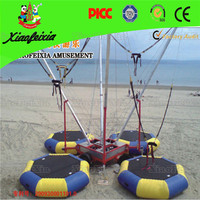 China good quality inflatable four people bungee trampoline for sale
