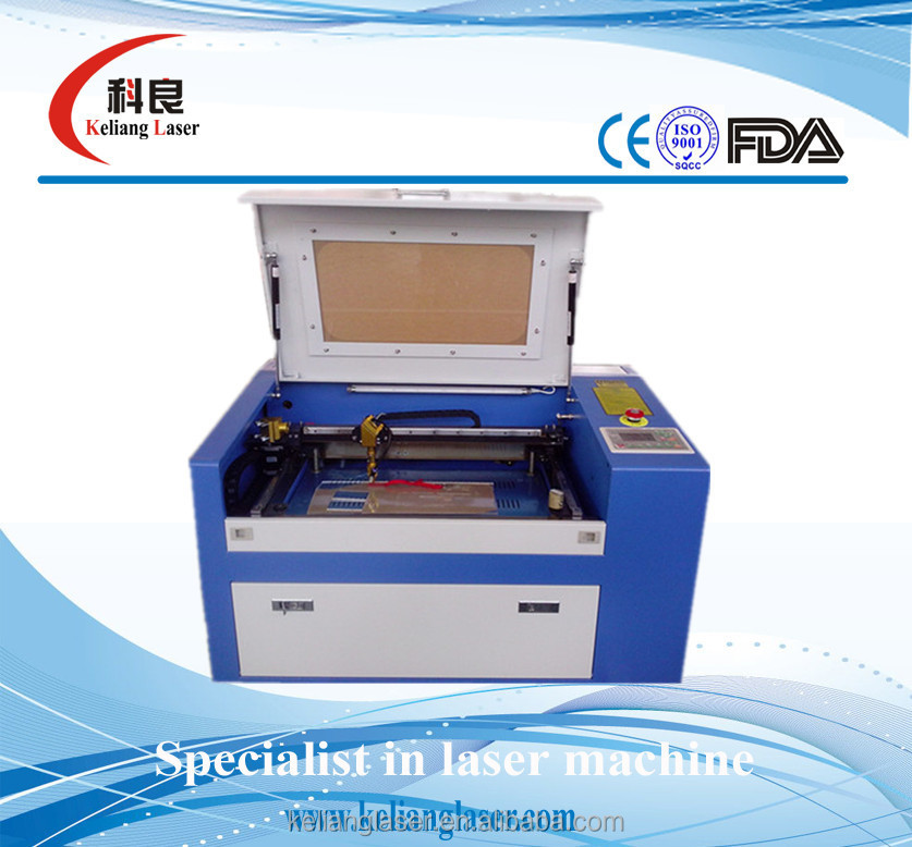 2015 hot sale 300X500mm 40w 50w 60w laser tube KL- 350 laser engraving machine used for engraving and cutting