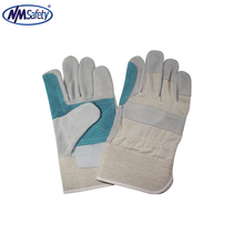 NMSAFETY private label cheap leather welding work en388 gloves