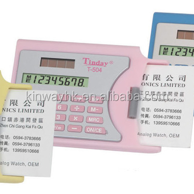 modern electronic 8 digits pocket business card calculator