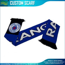 100% acrylic fan knitting jacquard scarf