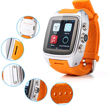 X01 Dual SIM Mobile Watch Phone waterproof Android 4.4 O.S WIFI GPS 3G WCDMA 5.0 MP Camera with Video call