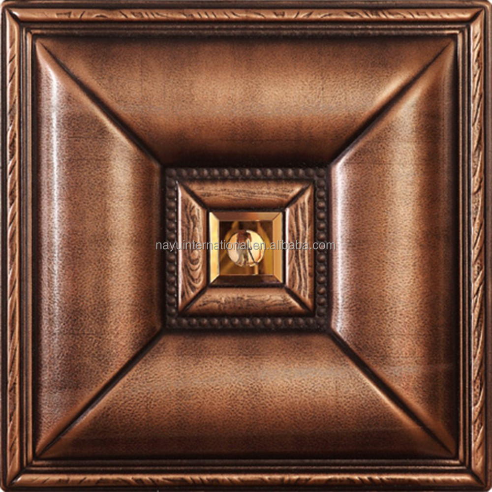 3D carved leather glass decorative interior waterproof mdf board