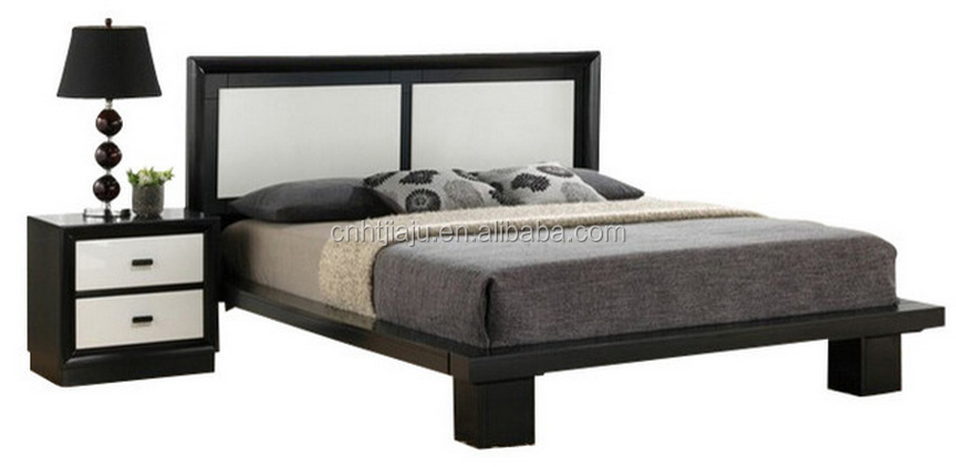 collection black and white wood queen /king size platform bedroom sets