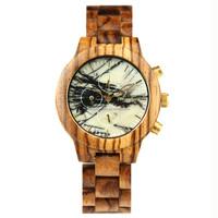 2017 new slim stone quartz wooden bands watch wood