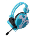 Internet cafe usb wired silent disco headphone with microphone