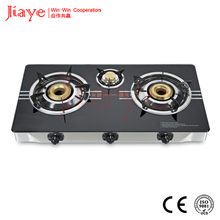 Natural type 3 burner glass top gas stove/ hot sell gas hob for India market JY-TG3006
