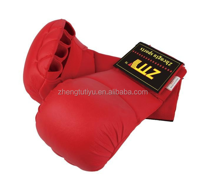 cheap without thumb for kids adults pu leather karate gloves