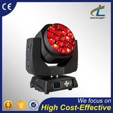 cool white bee eye rotating stage lighting 19x15W beam wash moving head light with high effective