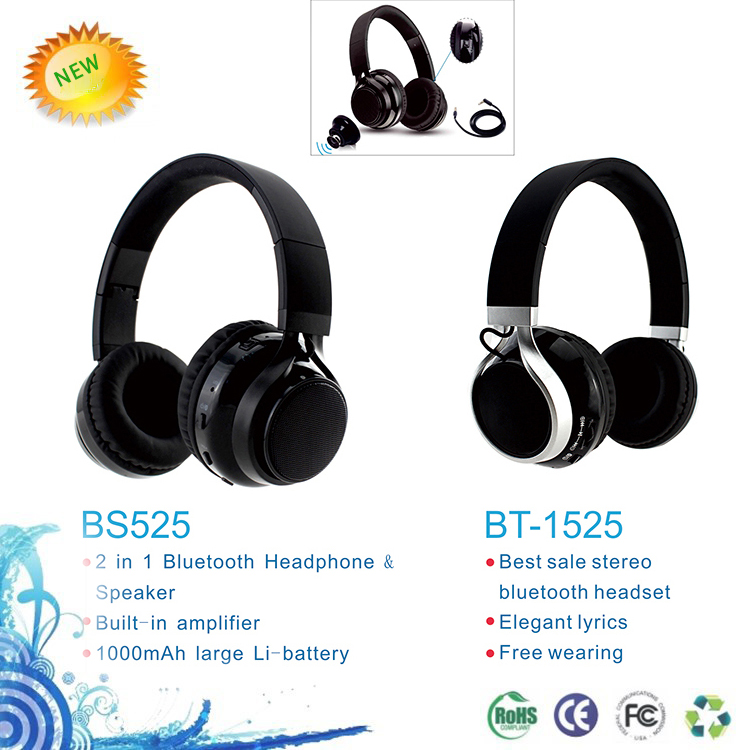 Custom multi-functional wireless bluetooth headphones 4.1 for laptop/tv/cellphone