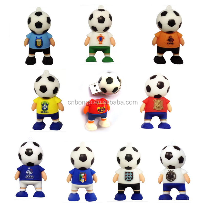 Wholesale 2GB/4GB/8GB The World Cup football player usb flash drive