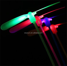 LED Luminous flying light up toys flashing Bamboo Dragonfly Electronic Cheap kids gift party decoration