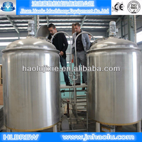 1500L/batch draft beer brewery plant ,SUS304 Conical fermentation tank jacketed and red copper brewhouse tanks