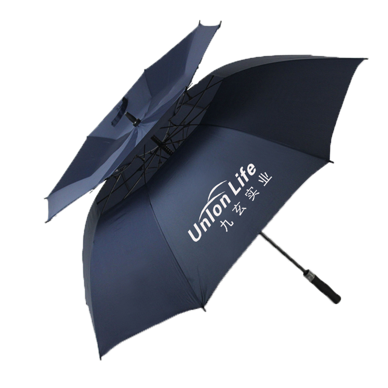 62 Inch Automatic Open Golf Umbrella Extra Large Oversize Double Canopy Vented Windproof Waterproof Stick Umbrellas