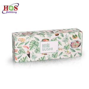 Eco-friendly Square Art Paper Disposable Food Sushi Packaging Gift Drawer Box