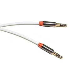 3 pole male to male pvc white sound auxiliary aux stereo audio cables