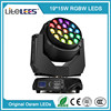 LiteLEES Factory price Bee Eye 19pcs 15w Led Moving Head Stage Light / Disco Lighting Equipment