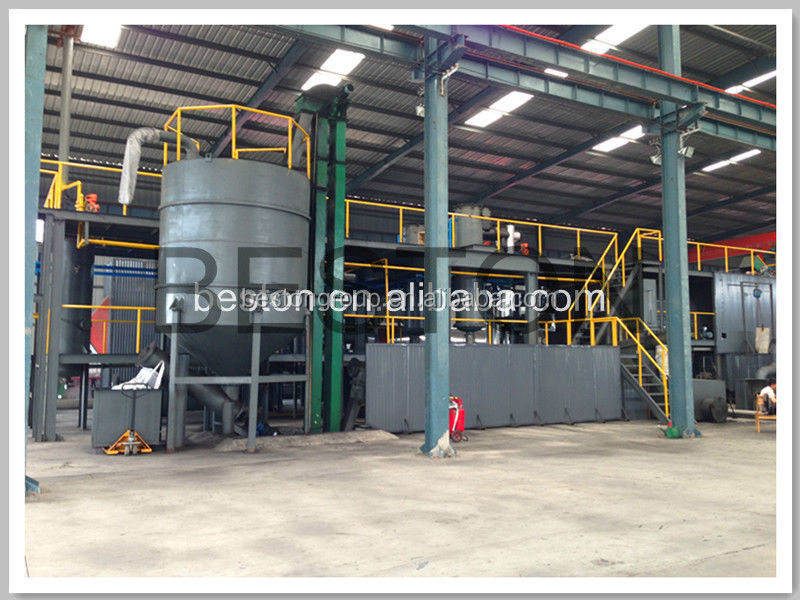 the latest environmental protection waste to oil machine plastic water bottle recycling to oil