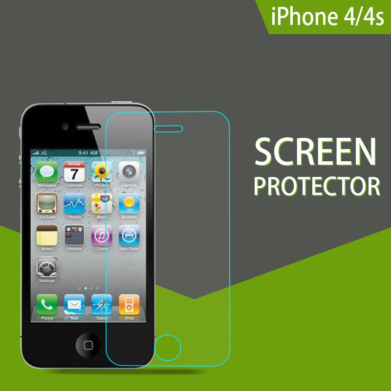 Fashion Design 9H hardness lcd screen protector cover guard for iphone 4 4s