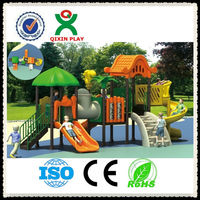 play ground garden playing equipmentkids outdoor garden amusement park toys playground slides in play ground garden QX-020A