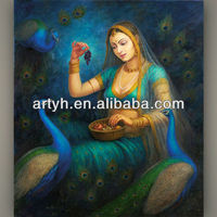 Traditional Mother Oil Painting For Thanksgiving