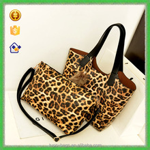 YTF-P-STB118 <strong>Fashion</strong> Women's Backet Leopard Handbag Set