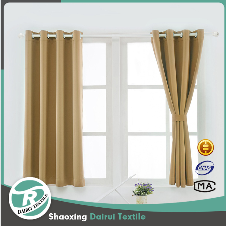 Energy Saving Bedroom Drapes Blackout Curtains for Windows Dark Coffee
