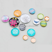 Round all sizes customized crystal educational fridge magnets