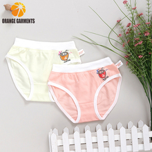 Custom print mesh fabric children girls thong underwear