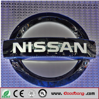 High quality Japanese brands car Chrome Metal glowing car emblems