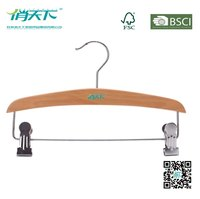 Betterall Best Sale Trousers Hanger Manufacture With Clips Wooden Pants Hanger